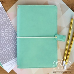 Mint Color Crush Travelers Notebook Webster's Pages