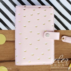 Blush & Gold Foil Dots Color Crush Personal Planner Kit Webster's Pages