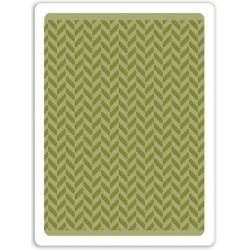 Herringbone Textured Impressions A2 Embossing Folder Sizzix by Tim Holz