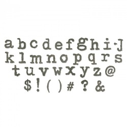 Typo Lower Alphabet by Tim Holtz Sizzix Bigz XL Die
