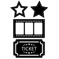 Movie Stubs and Tickets Embossing Essnetials Darice
