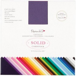 """6""""x6"""" Capsule Assorted Colossal Colours Papermania Docrafts"""