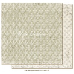 "Carta To be with You 12""x12"" Vintage Romance Collection Maja Design"