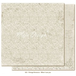 "Carta When I saw You 12""x12"" Vintage Romance Collection Maja Design"