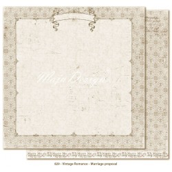 "Carta Marriage Proposal 12""x12"" Vintage Romance Collection Maja Design"