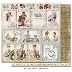 "Ephemera cards 12""x12"" Vintage Romance Collection Maja Design"