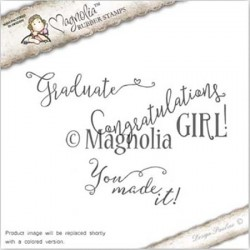 Timbro Magnolia You made it Kit Rubber Stamp - SF-16