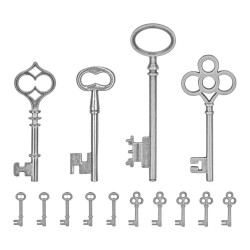 Silver Keys Metal Adornments Idea-ology by Tim Holtz