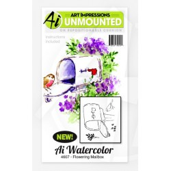 Flowering Mailbox Set Cling Rubber Stamp Art Impressions