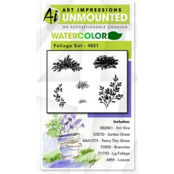 Foliage Set Cling Rubber Stamp Art Impressions