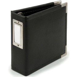 "Black Classic Leather Instagram Album 4""x4"" We R Memory Keepers"