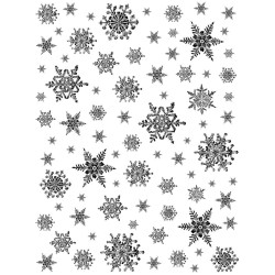 Snowflakes Background Rubber Stamp Crafty Individuals