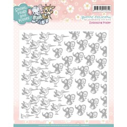 "Smiles, Hugs And Kisses Embossing Folder 6""x6"" Yvonne Creations"