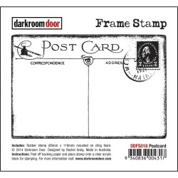 Timbro Postcard Cling Rubber Stamp Darkroom Door