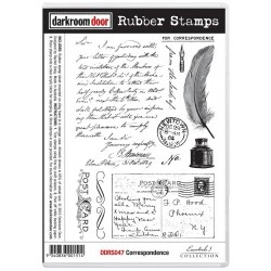 Timbro Correspondence Cling Rubber Stamp Darkroom Door