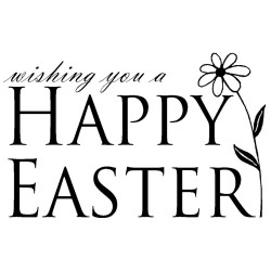 Happy Easter With Tulip Gourmet Cling Rubber Stamps
