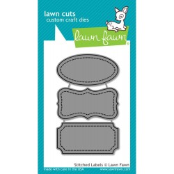 Stitched Labels Lawn Fawn Cuts Custom Craft Die