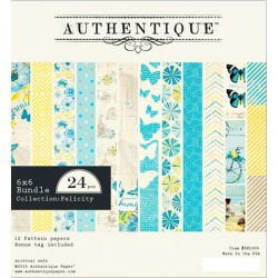 """Felicity Double-Sided Cardstock Paper Pad 6""""x6"""" 24 Pkg"""
