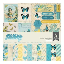 "Felicity Double-Sided Cardstock Paper Pad 6""x6"" 24 Pkg"