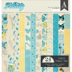"Felicity Double-Sided Cardstock Paper Pad 12""x12"" Authentique"