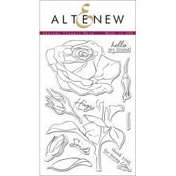 """Timbri Sketchy Rose Clear Stamps 4""""x6"""" Altenew"""