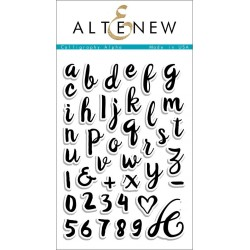 """Calligraphy Alpha Clear Stamps 4""""x6"""" Altenew"""