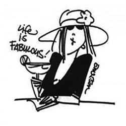 Timbro Life Is Fabulous Gourmet Cling Rubber Stamps