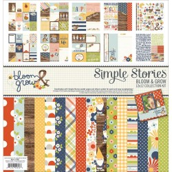 """Bloom & Grow Collection Kit 12""""x12"""" Simple Stories"""
