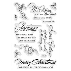 Timbri Christmas Wishes Clear Stamps Stampendous