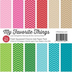 "Fresh Squeezed Chevron Paper Pad 6""x6"" 24 Pkg My Favorite Things"