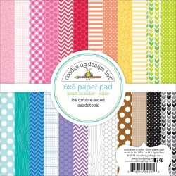 "Color Kraft In Color Paper Pad 6"" x 6"" Doodlebug Desing"