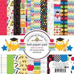 "Back to School Paper Pad 6"" x 6"" Doodlebug Desing"