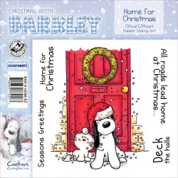Home For Christmas Christmas with Barkley Cling Rubber Stamp Set Crafter's Companion