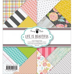 "Life is Beautiful Paper Pad 6""x6"" Fancy Pants"