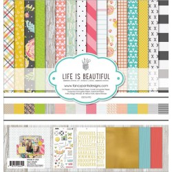 """Carte Life Is Beautiful Collection Kit 12""""x12"""" Fancy Pants"""
