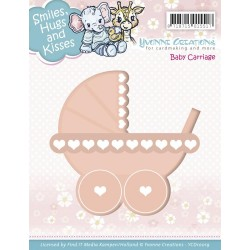 Fustella Baby Carriage Die Yvonne Creations
