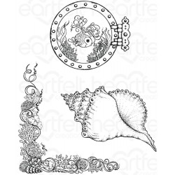 Coral Reef Collage Cling Rubber Stamps Heartfelt Creations