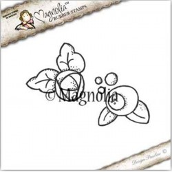 Timbro Magnolia Shell Flowers Rubber Stamp - SS-16