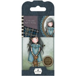 Timbro No. 4 Forget Me Not Mini Gorjuss Rubber Stamps Santoro