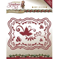 Christmas Card Set Christmas Greetings Die Amy Design