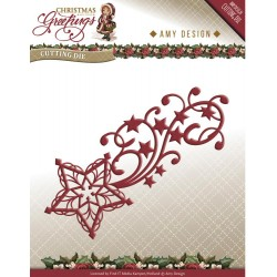 Shooting Star Christmas Greetings Die Amy Design