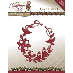 Christmas Greetings Ornament Christmas Greetings Die Amy Design