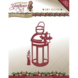 Lantern Christmas Greetings Die Amy Design
