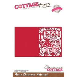 Merry Christmas Notecard Elite Die CottageCutz