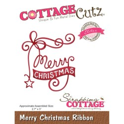 Merry Christmas Ribbon Elites Die CottageCutz