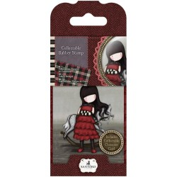 Timbro No. 20 The Getaway Mini Gorjuss Rubber Stamp Santoro