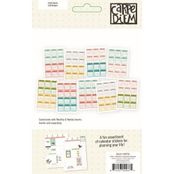 Mini Monthly Calendar Stickers Posh Carpe Diem Simple Stories