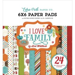"Carte I Love Family Paper Pad 6""x6"" Echo Park"