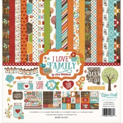 "Carte I love Family Collection Kit 12""x12"" Echo Park"