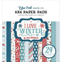 "Carte I Love Winter Paper Pad 6""x6"" Echo Park"